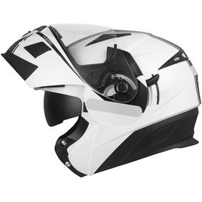 Capacete Zeus 3020 Pearl White/ae1 Hybrid Blk