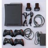 Xbox 360 4 Controles 120gb Juegos Y Accesorios