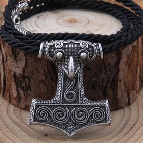 Colar Vikings Viking Martelo Thor Mjolnir Metal