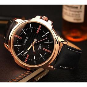 Relógio Masculino Quartz Pulseira De Couro Social Elegante