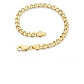 Pulseira Masculina Rommanel 550196 Dourada Folheada Ouro 18k