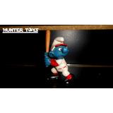 Pitufos, The Smurfs, Beisbol, Mini Figura, Peyo Vintage!!!