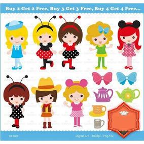 Kit Imprimible Trajes Drisfraces Nena 12 Imagenes Clipart