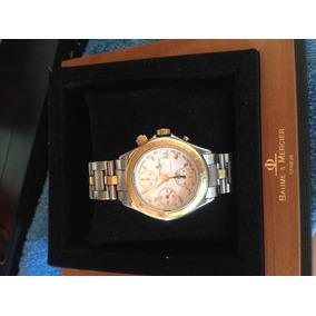 Relógio Ouro Baume & Mercier Geneve Original Ouro E Aço