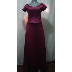 Vestidos color vino largos de noche