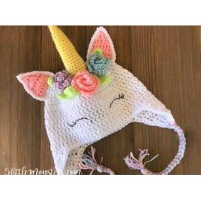 Touca De Croche Unicornio - Calçados 0dd830436b4