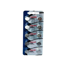 Dez Baterias Pilha Maxell Lr 44 Baterias Relogio Original