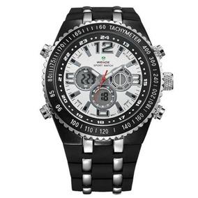 01921d8955 Pulseira Do Relogio Weide Anadigi Casual Prata Wh 1107 - Relógios De ...