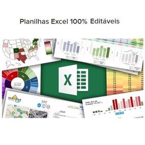 3700 Planilhas Excel Prontas 100% Editáveis - Apostilas