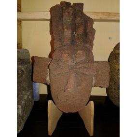 Pieza Prehispanica Mascara Piedra