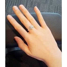 199f0b7f24793 Solitário De Ouro Branco Com Diamante De 70 Pontos - Anel de Ouro ...