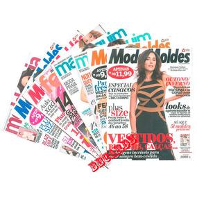 Manequim Moda Moldes & Cia Kit 8 Revistas Com Moldes