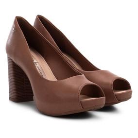 0850cd283 Sapato Peep Nude Dakota Sapatilhas - Sapatos no Mercado Livre Brasil