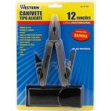 Canivete Multiuso Alicate 12 Funções C/ Bainha Caça E Pesca