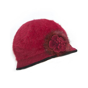 Sombrero Bucket Angora Para Mujer De Dahlia - Acento De Flor 16a252968b0