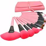 Set De 24 Brochas Profesionales De Maquillaje Pelo De Cabra