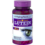 Luteína 20mg Zeaxantina 1mg 180 Cápsulas Softgel Piping Rock