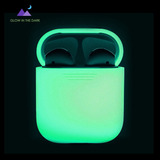 Case Silicona Cubierta Protectora AirPods Night Glow Brilla
