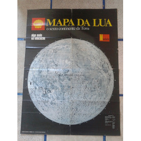 Pôster Mapa Da Lua Revista Manchete