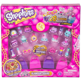 Pack Shopkins 20 Figuras Incluye 4 Carteras Glamour Orig!!