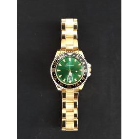 b8227205b46 Relógio Dourado Analógico Movimento Quartz