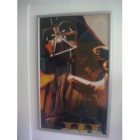 Darth Vader Star Wars Poster Quadro Moldura Em Vidro