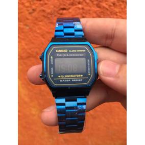 Reloj Casio Vintage Azul Metálico