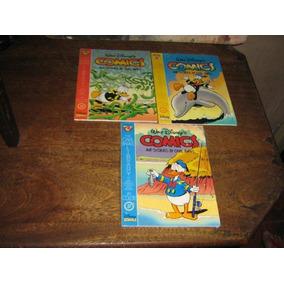 Lote Com 3 Edições Carl Barks Library Pato Donald Com Cards