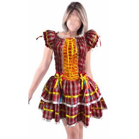 Vestido Festa Junina Adulta Luxo - Vestidos Femininas no Mercado ... e2e2d082242