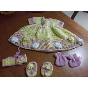 Vestido Tejido Para Bebe
