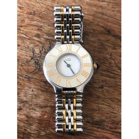 7ac14b2d791 Lindo Relógio Cartier Must 21 Aço   Ouro Feminino Rolex Iwc
