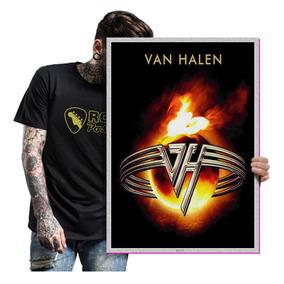 Quadro Placa Eddie Van Halen Rock Glam Metal Tam. A2 01