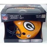 Kit Capacete Helmet E Camisa Jersey Green Bay Packers Nfl Gb