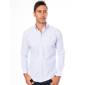 Camisa Blanco Lineas Azules