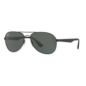 9a38740eb2b50 Oculos Sol Ray Ban Rb3549 006 71 61mm Preto Fosco Lent Verde