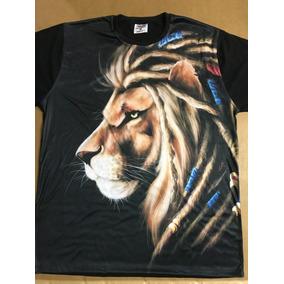 Camiseta Leão Rastafari Personalizada Preta 1642c4a80e3