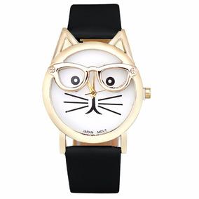 4cf6102e412 Relógio De Pulso Gato Gatinho - Relógios De Pulso no Mercado Livre ...
