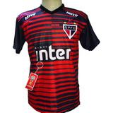 Camisa São Paulo Goleiro Vermelha Preto Nova 2019