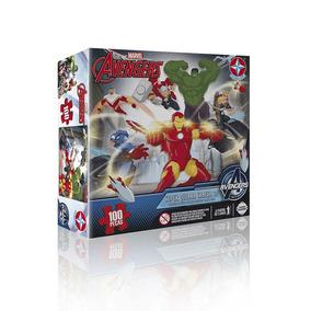 Quebra Cabeça 3d Avengers Marvel 100 Peças Estrela + Nfe