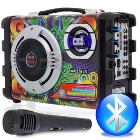 Caixa De Som Amplificada Bluetooth Cmik Usb Sd + Microfone