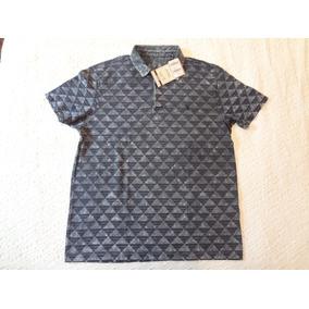 Camisa Pólo Estampa Geométrica Tamanho G Side Walk 4dd5529d53c66