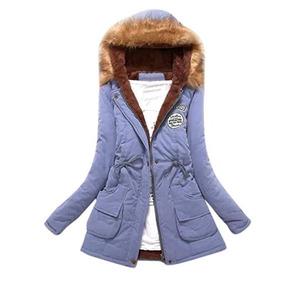 Abrigo Largo Para Frio Invierno Para Mujer Sky Blue Lookal1