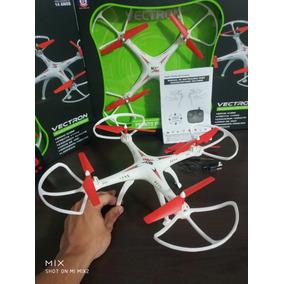 Drone Quadricoptero Grande S/ Camera Com Leds Faz Manobras