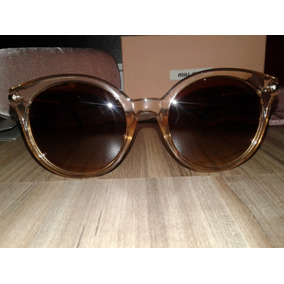 49ec3e2e16001b Óculos De Sol Miu Miu 0014 Gatinho Tamanho 54 Nude / Marrom