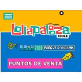 Lollapalooza.pase Lolla Locker 29.30 Y 31 Marzo .parque