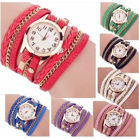 Relógio Pulseira Bracelete Feminino Rosa Preto Ou Vermelho