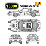 15000 Planos Autos Rotulados Plotter Carros Tunning Rotulado