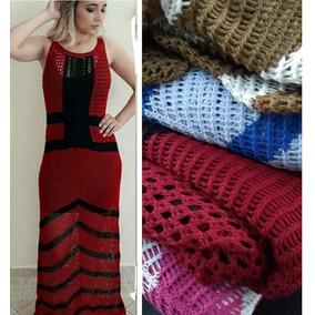 Vestido Longo Tricot Trico Moda Evangélica Roupas Femininas