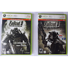 Expansões Fallout 3 Xbox 360 Add-on Packs Frete Grátis Game