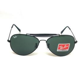 Óculos De Sol Aviator Caçador 3029 S  Mola Armação Preto Met 887e8f0948